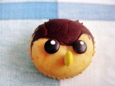 sparrow cupcake