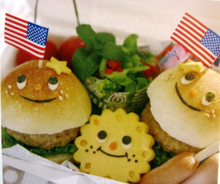 Fourth of july bento